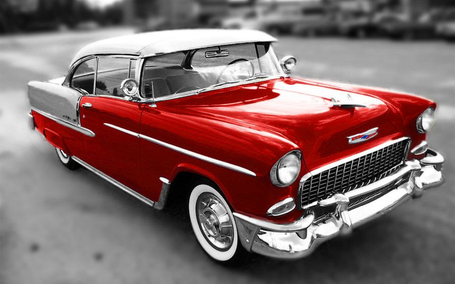 My First Car Was An All Original Yellow And White 1955 Bel Air