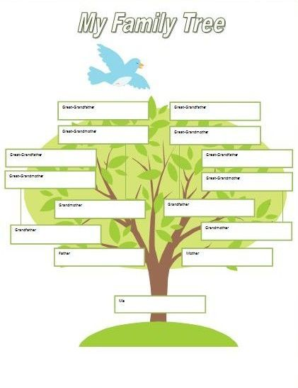 Printable Fill in Family Tree | ... for Kids: Family Tree ...