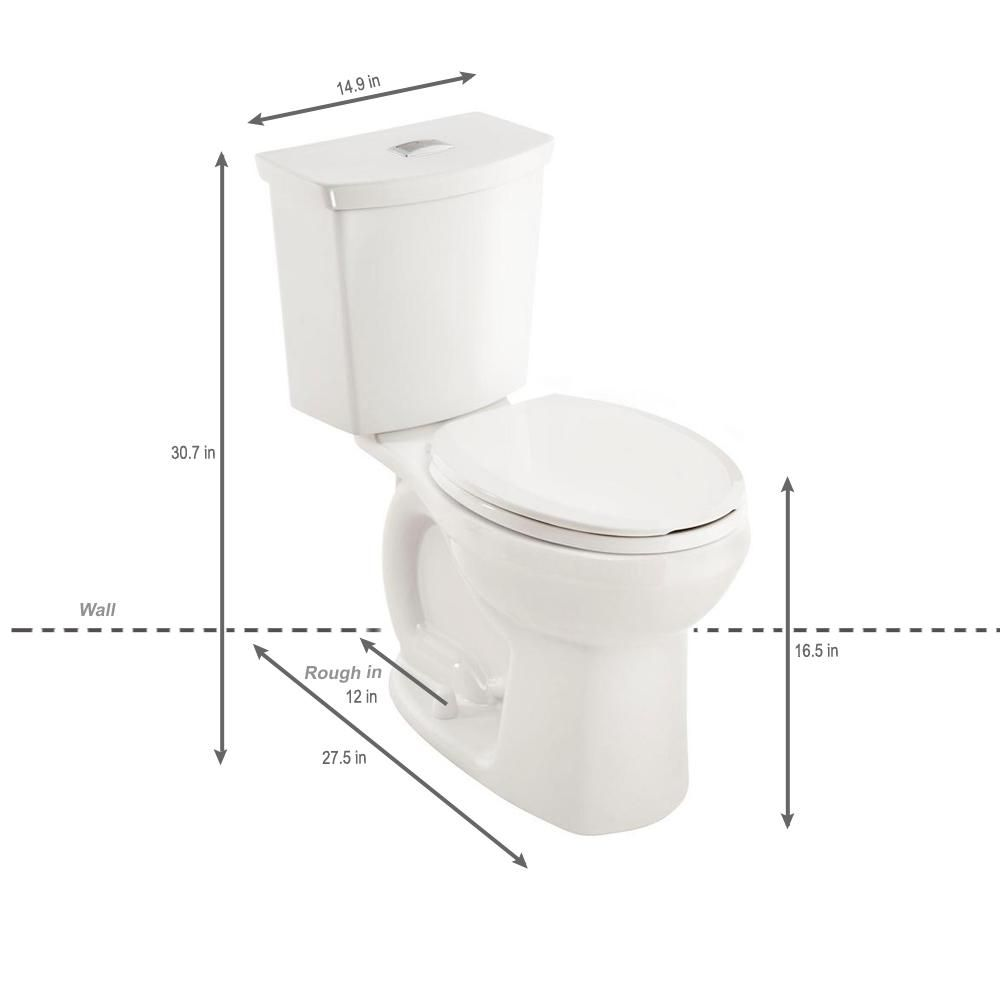 American Standard Cadet 3 Tall Height 2 Piece 1 0 1 6 Gpf Dual Flush Round Toilet With Slow Close Seat In White 3380ba216st 020 Toilet American Standard Dual Flush Toilet