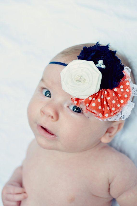 Baby Girl Headband  Baby Headband  Vintage por LittlePearlBoutique, $16.00