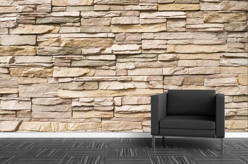 Des Murs Tout En Texture Papier Peint Pierres Empilees Papier