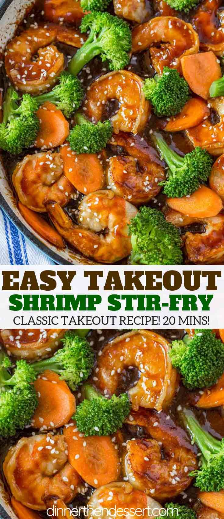 Easy Shrimp Stir-Fry - Dinner, then Dessert