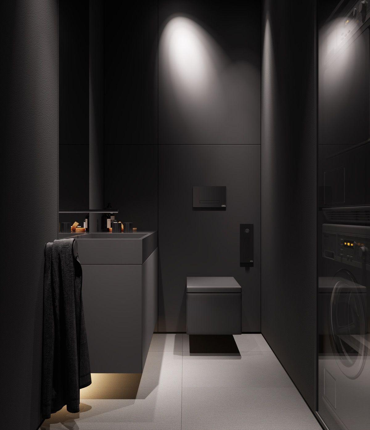 Photo of Dark Grey Modern Decor As An Atmospheric Base For Colour