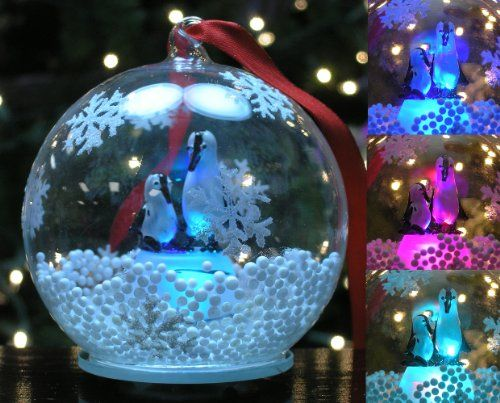 Led Penguin Glass Globe Christmas Ornament Snow Pellets Https Www Amazon Com Dp B004g Christmas Ornaments Glass Christmas Ornaments Glass Ball Ornaments