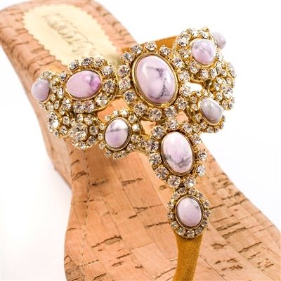 Mystique Pink Wedge Sandals