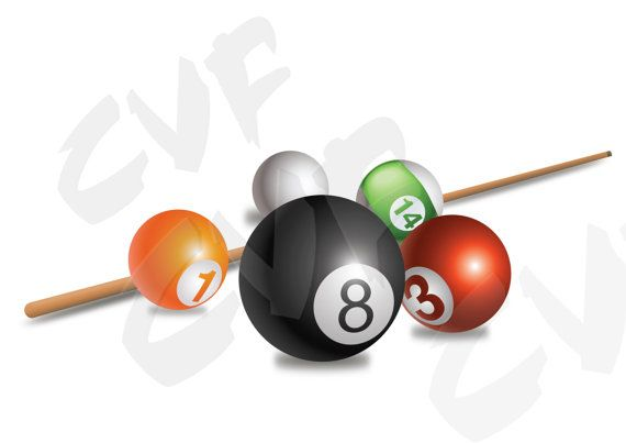 Vector Billiard Balls Download Digital Image Graphical Image Ai Eps Png Pdf Svg Jpg Billiards Billiard Balls Digital Image