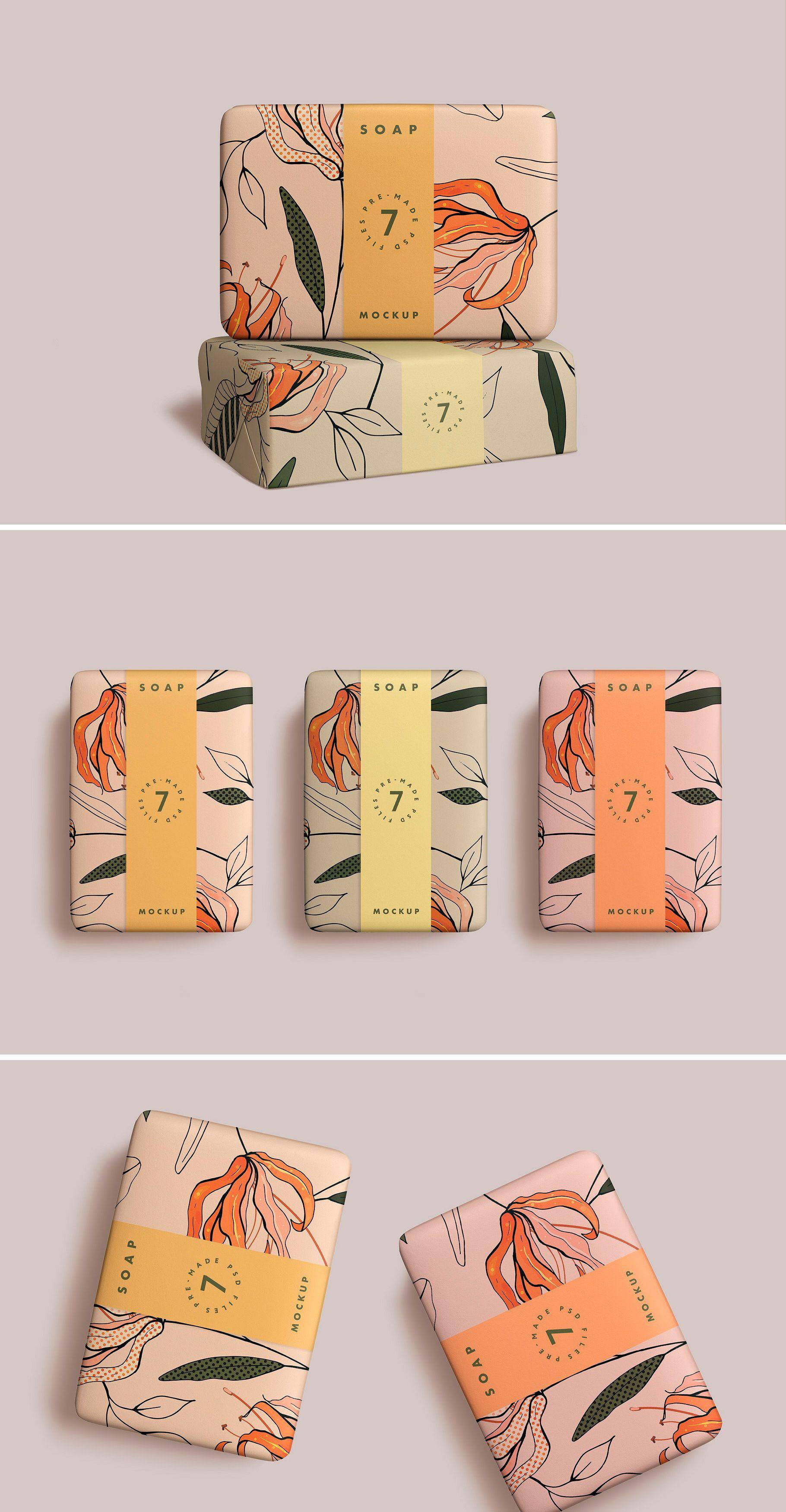 Soap Bar Mockup Soap Packaging Design Graphic Design Packaging Creative Packaging Design