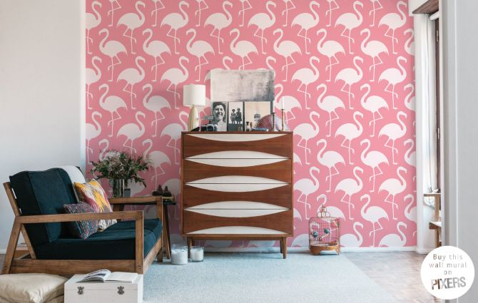 Flamingos • Scandinavian - Living room • Pixers® • We live to change ...
