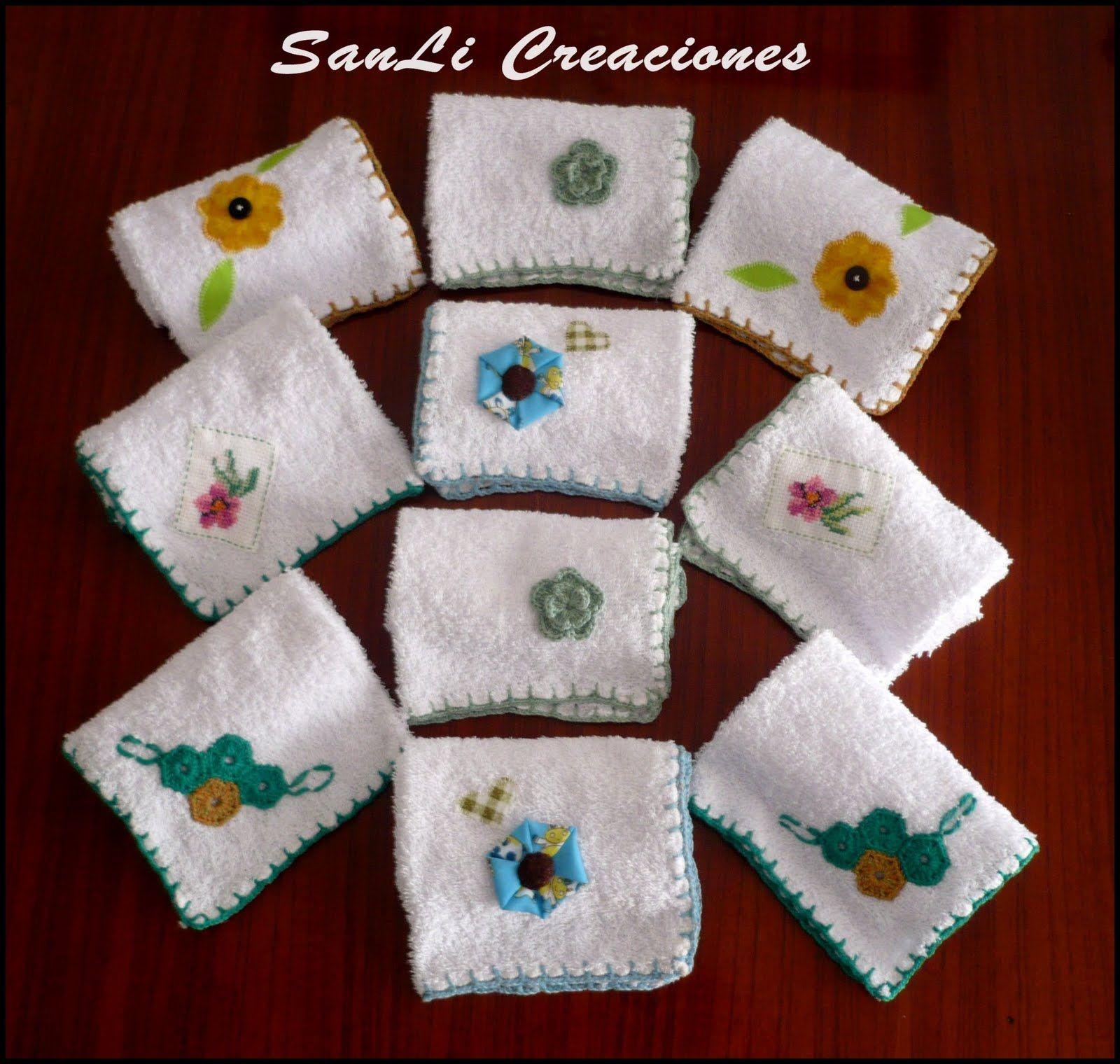 Sanli Creaciones Toallas Decoradas Decoracion De Casita Pinterest - Decoracion-con-toallas