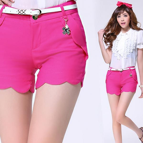 Women's Fashion Rippled Edge Short Pants | Women's Shorts ...