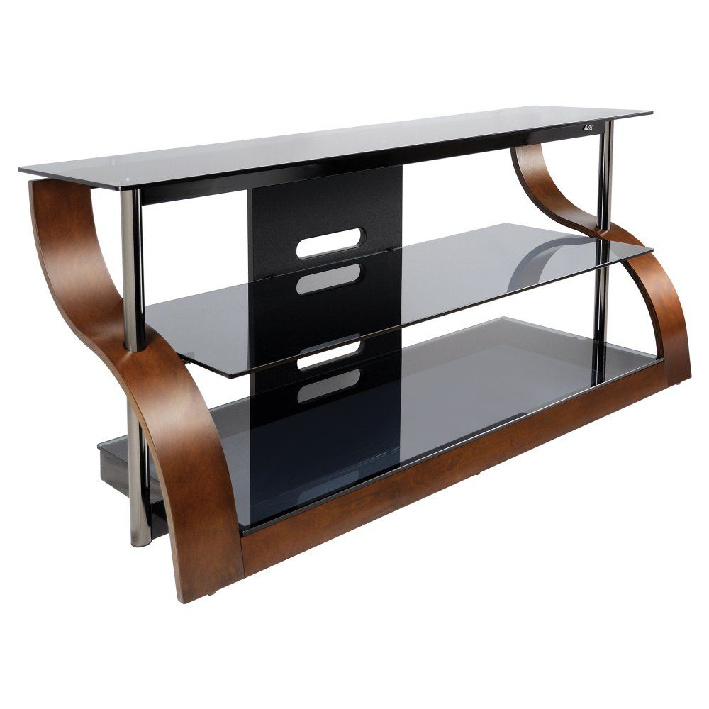 Bello 52 In Curved Tv Stand Vibrant Espresso The Twin Stars 52