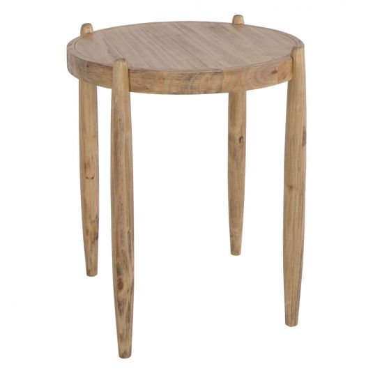 Farmhouse Side Table Side Table Light Wood Round Side Table