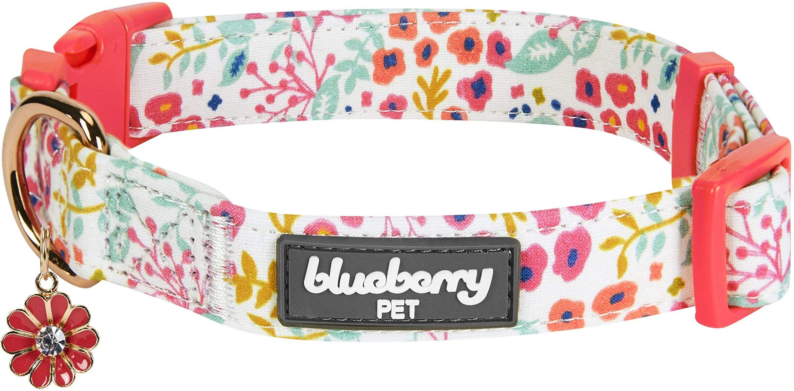 Blueberry Pet 2019 New 6 Patterns Spring Scent Garden Floral Collar Dog Collars Leashes Designer Dog Collars Collar And Leash