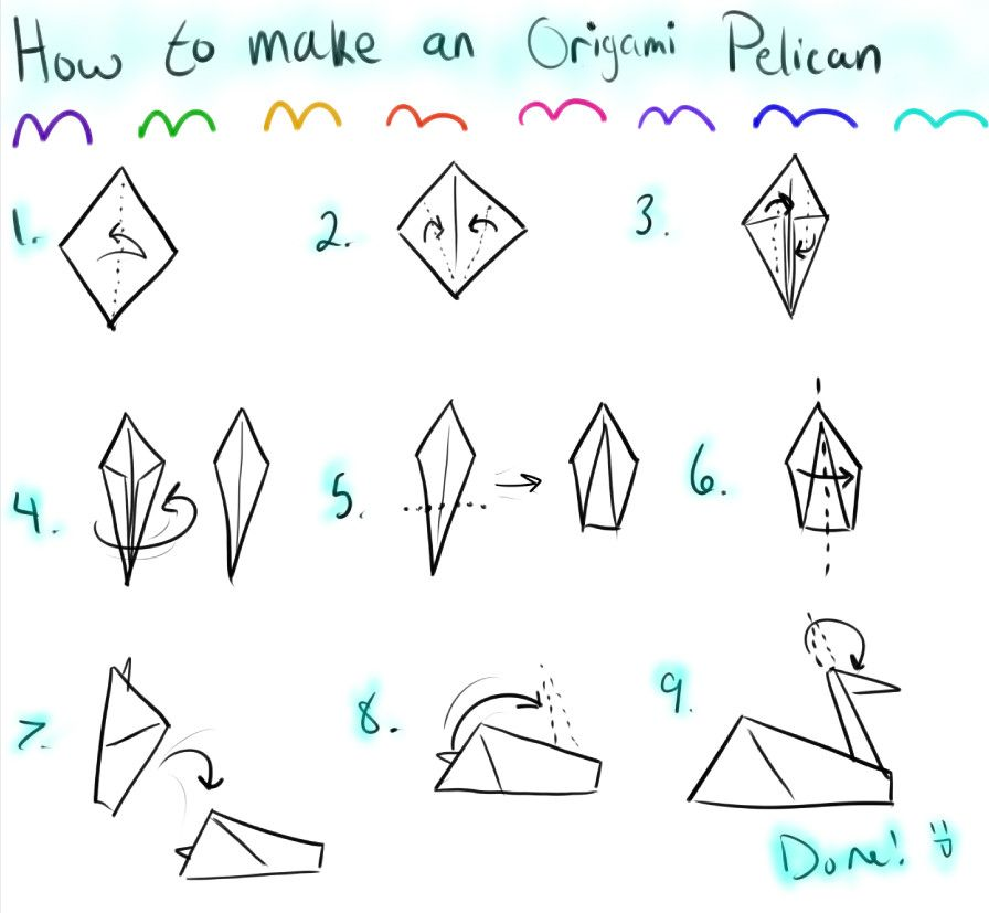 How To Make An Origami Pelican By Pandoradragon Pelican Crafts