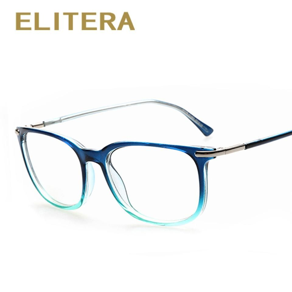 Retro Brand Designer Fashion Plain Glasses Optical Frame Clear Lens ...