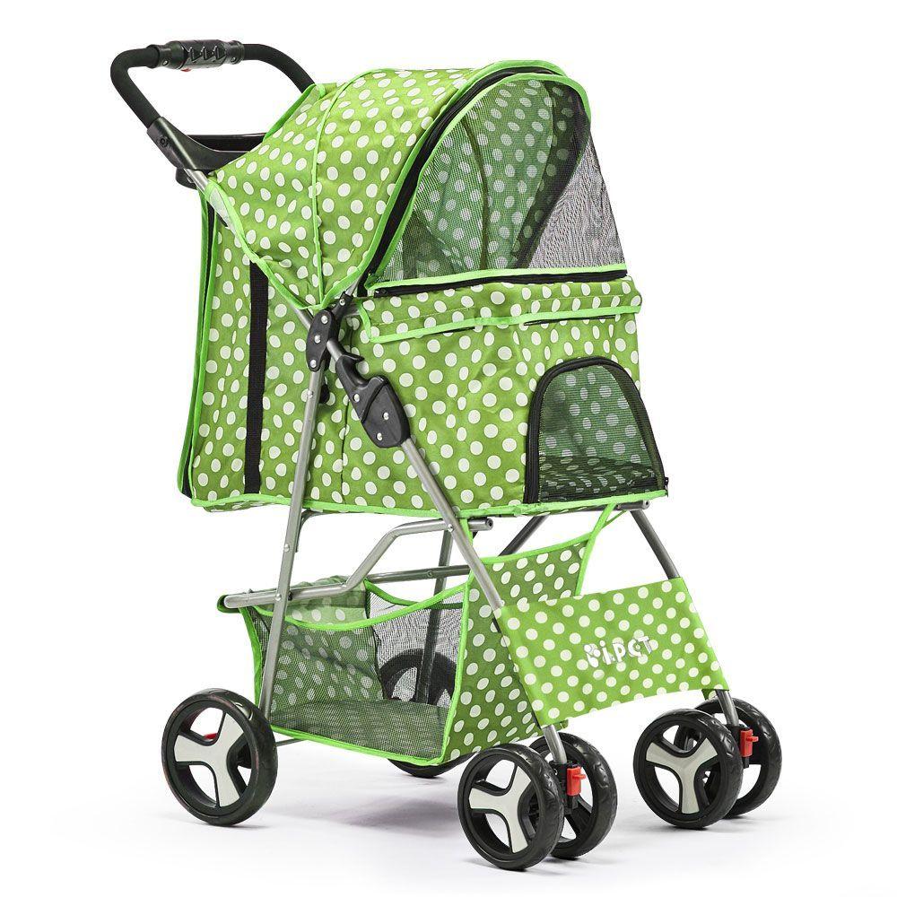Buy Discount Pet 4 Wheel Pet Stroller Green Online