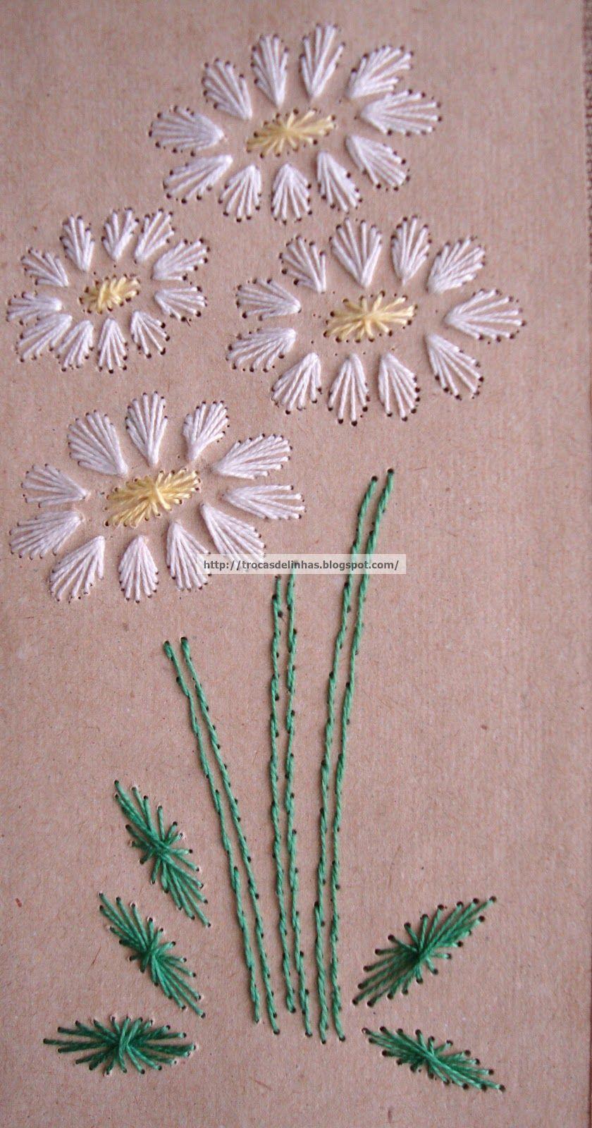Linea attiva ricamo su carta crafts pinterest embroidery sew