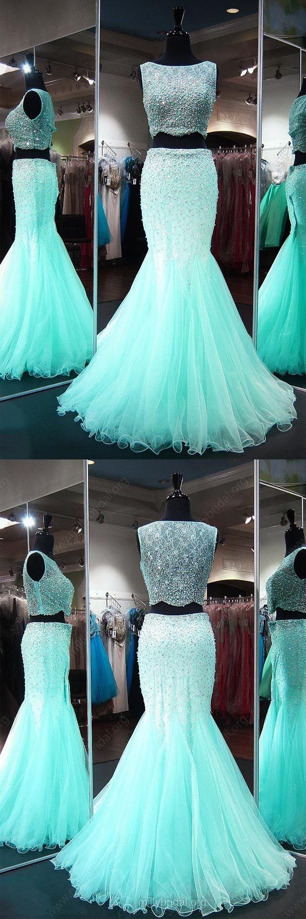 Cheap comfortable long prom dress mermaid neck lace tulle floor