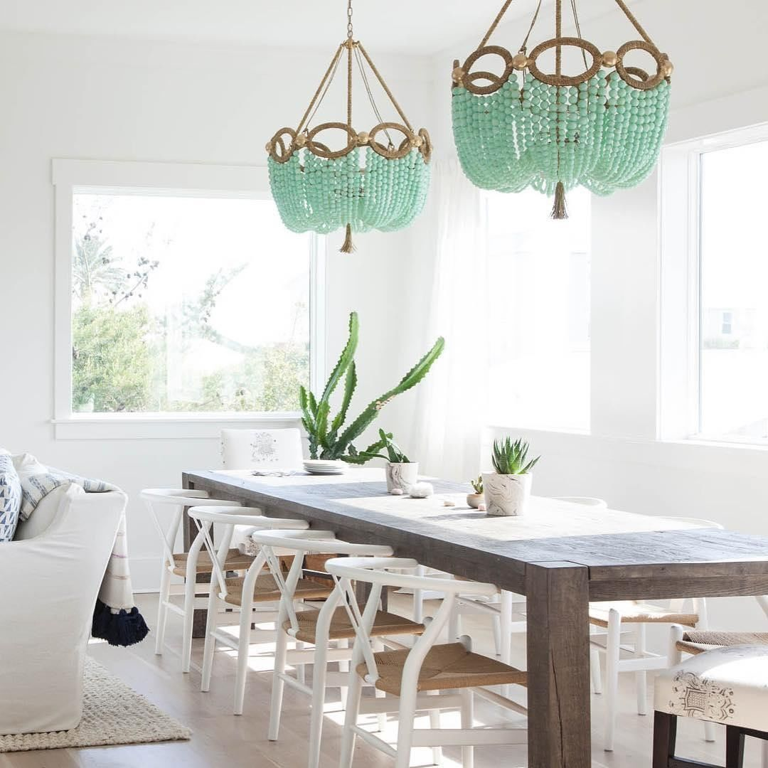 boho dining room with beaded chandelier boho dining room ro sham beaux beaded chandelier on boho chic dining room kitchen dining tables id=52530