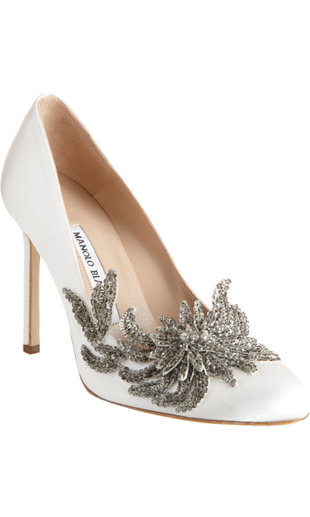 9a433519a3866 Manolo Blahnik Swan | With this ring. . . | Wedding shoes, Manolo ...