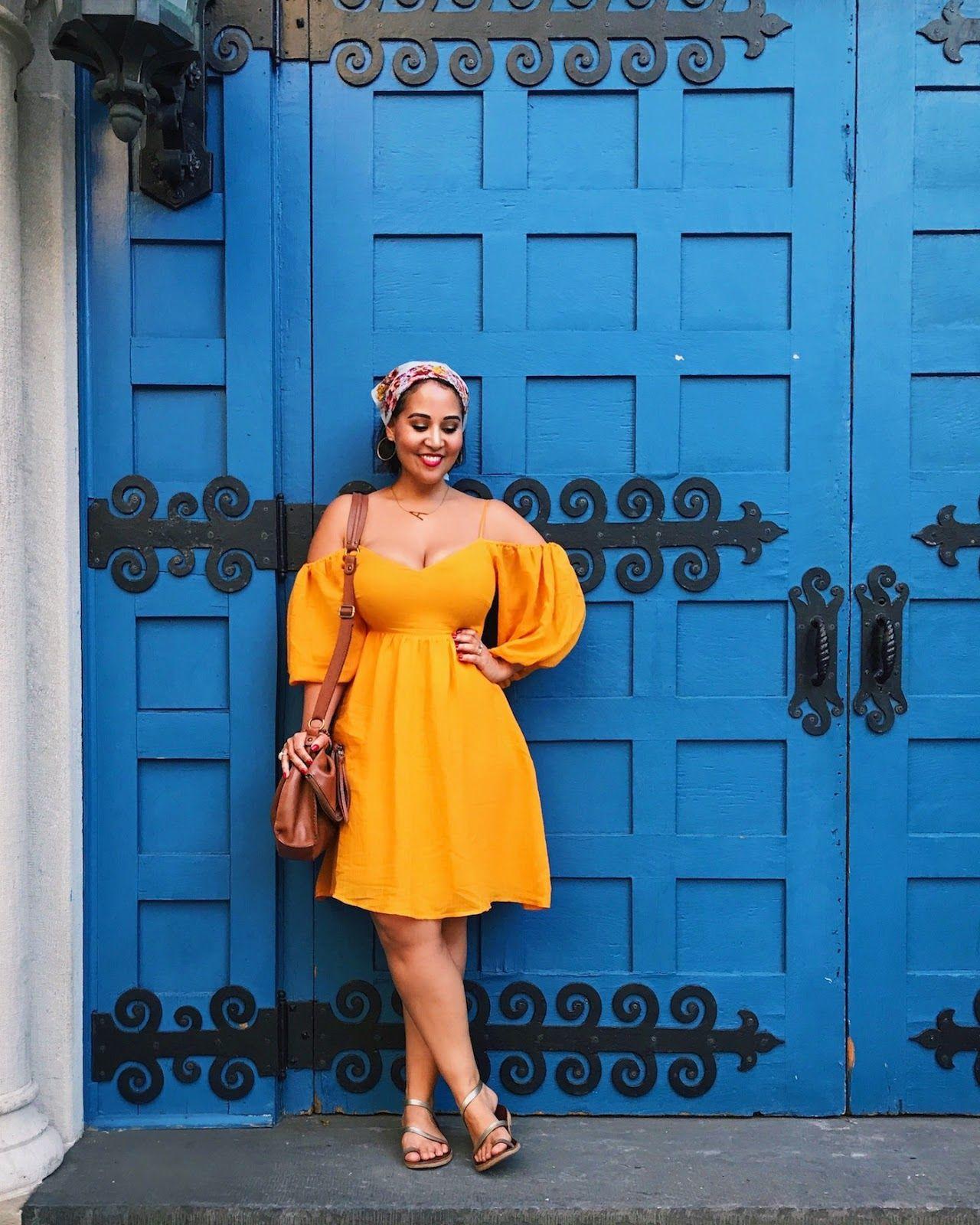 Curvy Style A Flattering Flowy Dress For Hot Summer Days Curvy Dress Curvy Girl Outfits Curvy Fashion [ 1600 x 1280 Pixel ]