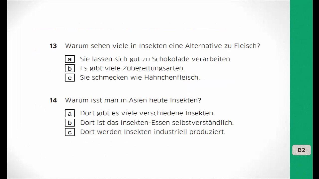 Goethe B2 Neu Hörverstehen2 Lösungen Im Blog Deutsch Lernen