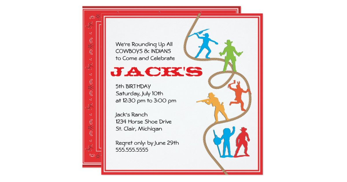 Need an invitation for a Cowboy themed party? Choose this fun ...