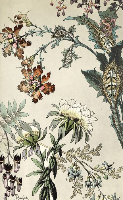 Japanese fantasy flowers these colourful art deco floral for Art deco flowers