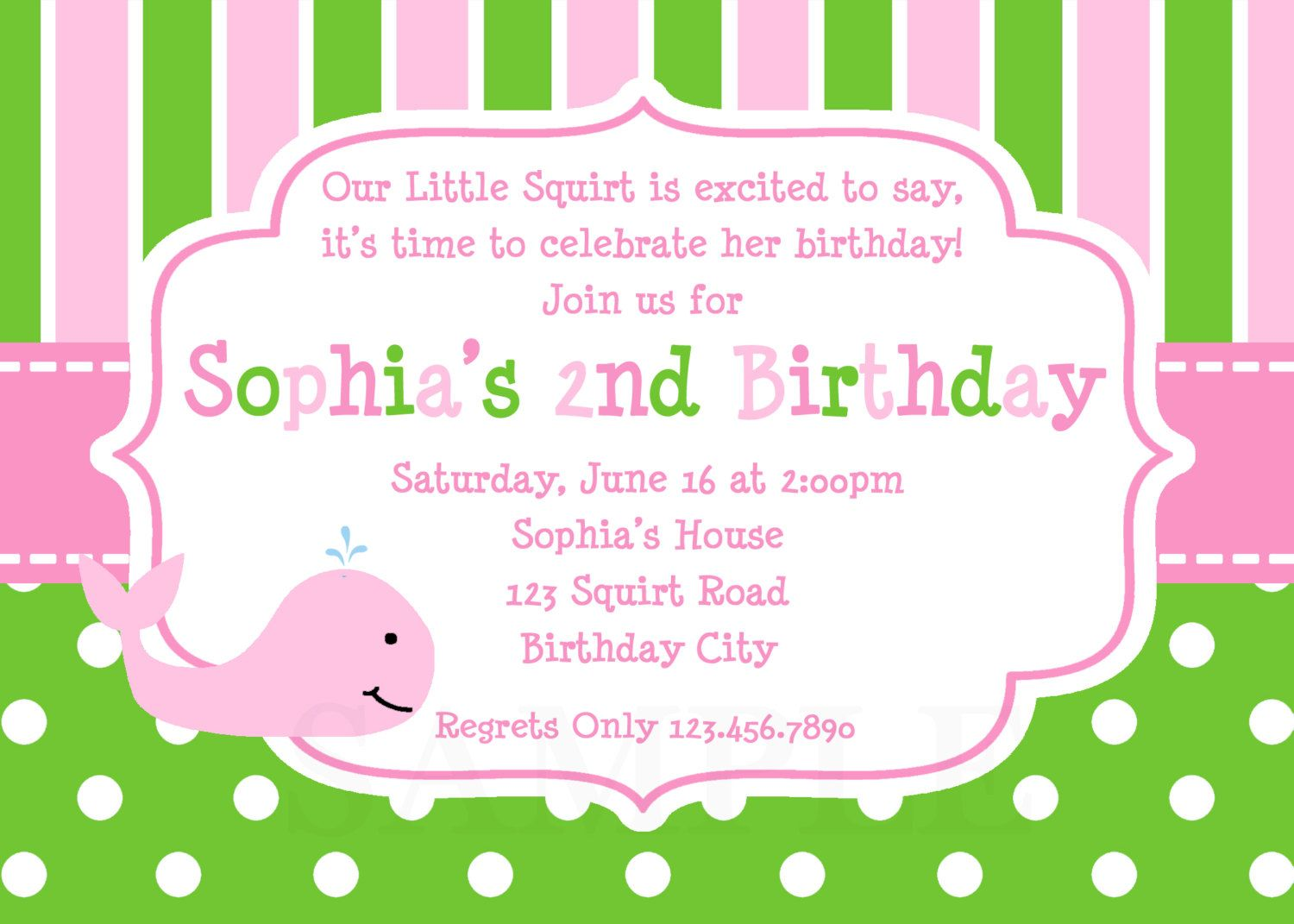 1st Birthday invitation Whale Birthday Party Invitation Printable ...