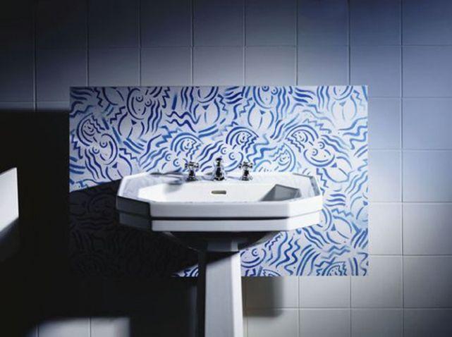 Lavabo style art deco SALLE DE BAIN Pinterest
