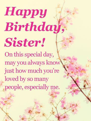New birthday message for sister quotes greeting card ideas #birthdayquotesforsister