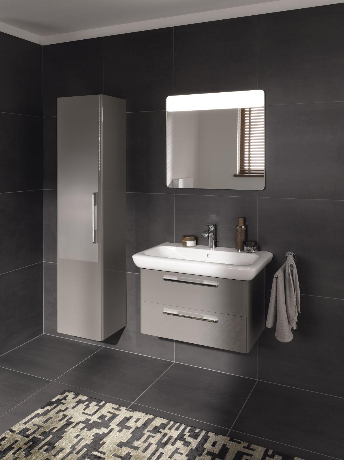Decoration Salle De Bain Style Hammam ~ Hoge Kast Lichtspiegel En Onderkast Voor Wastafel Uit De It