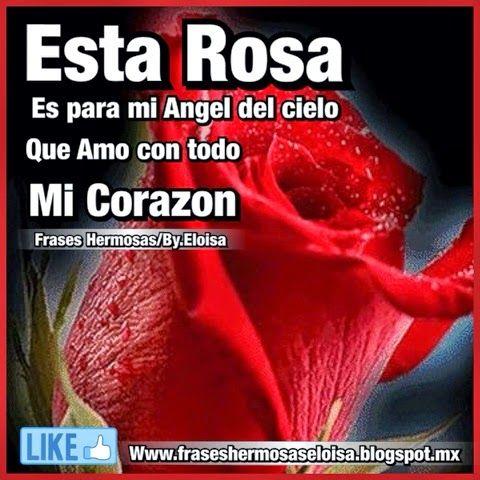 Esta Rosa Es Para Mi Angel Frases Para Tu Muro Frases Para Nietos Frases De Consuelo