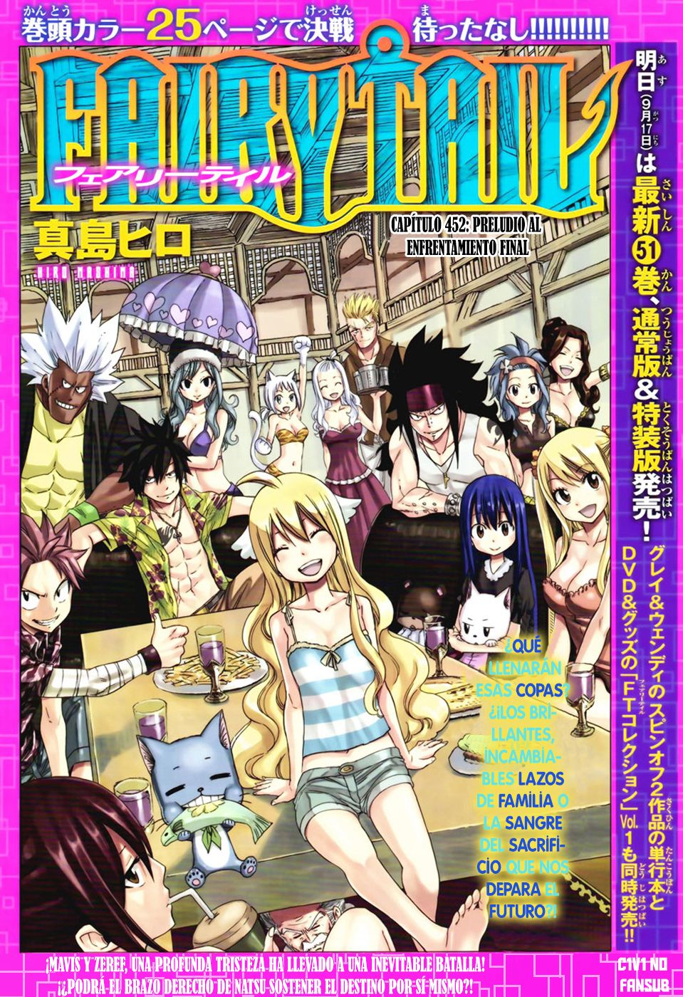 Fairy Tail Capítulo 452.00 Preludio De La Batalla