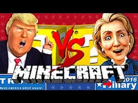 SSUNDEE Minecraft TRUMP VS CLINTON LUCKY BLOCK CHALLENGE
