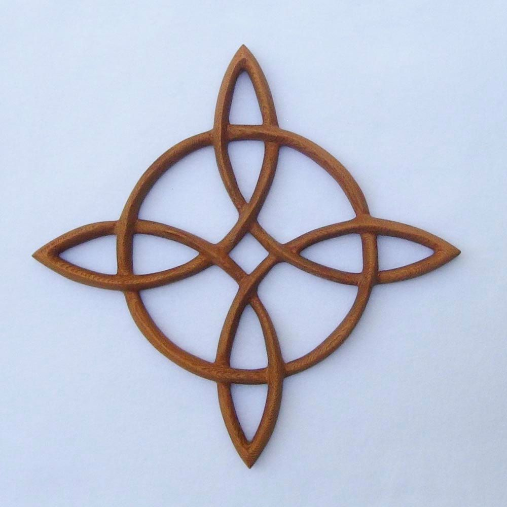 Compass roseceltic knot of journey and returnsailors knot wood