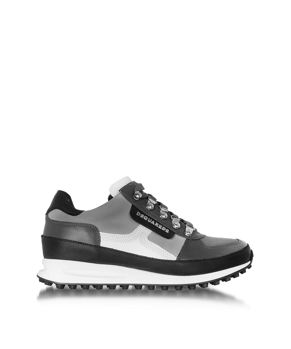 DSQUARED2 Dsquared2 Men'S Grey Fabric Sneakers'. #dsquared2 #shoes #sneakers
