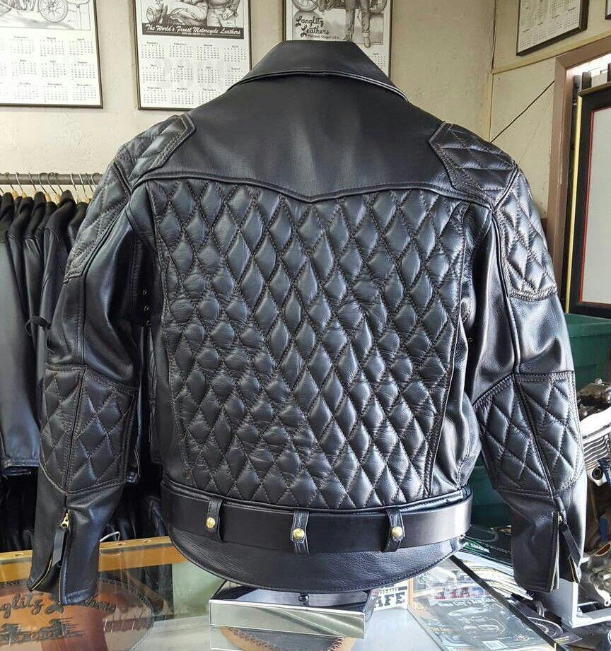A Custom Made Hand Sewn 2016 Langlitz Xxl Goatskin