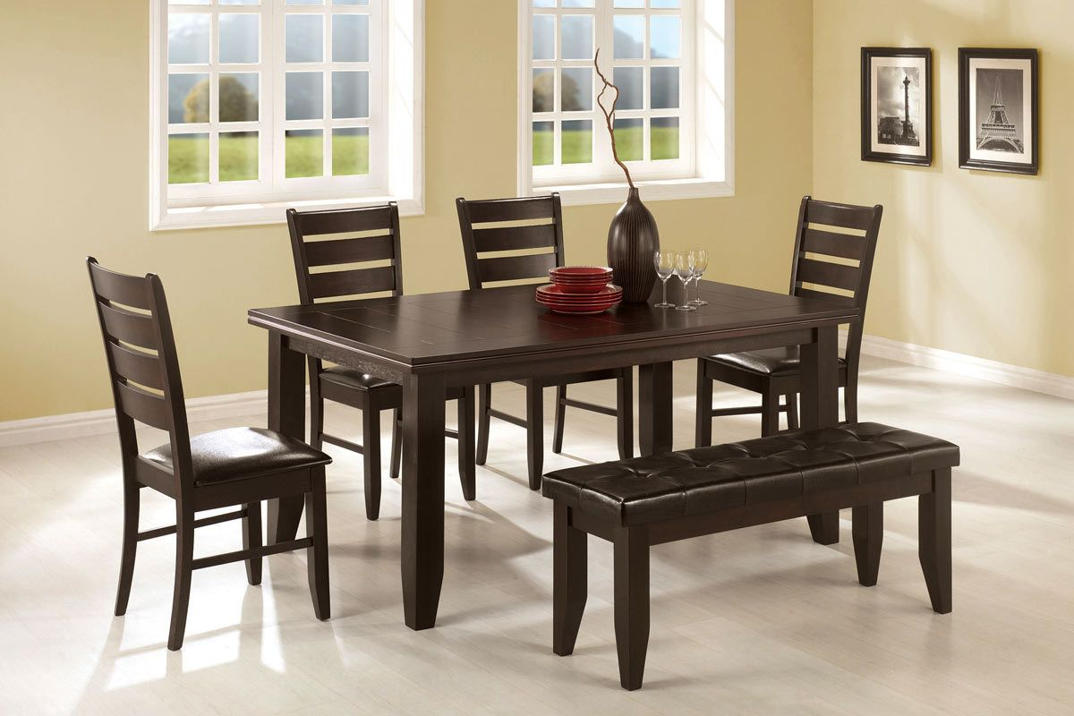 Dining Table With Chairs Bench Set 102721 Solid Wood Dining Table Dining Room Sets Casual Dining Table