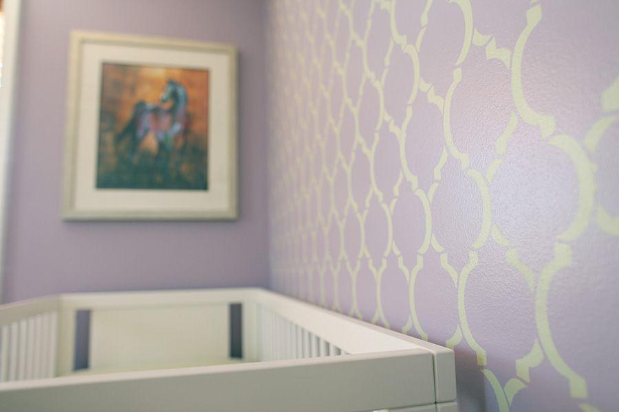Stencil As Accent Wall Behind Crib Havanas Room Pinterest