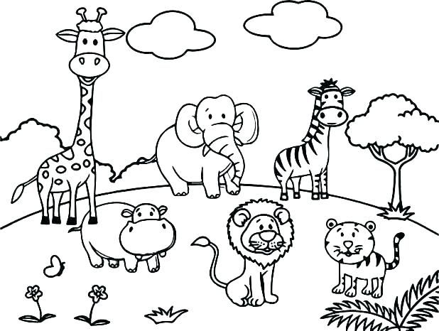 coloring Zoo Animal Coloring Page Wildlife Pages Animals