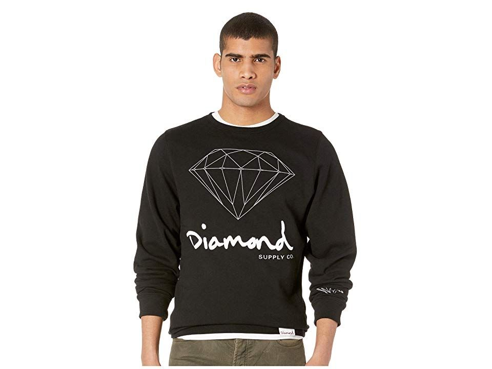 5e9ba248afa0 Diamond Supply Co. OG Sign Crew Neck (Black) Men's T Shirt. Keep it ...