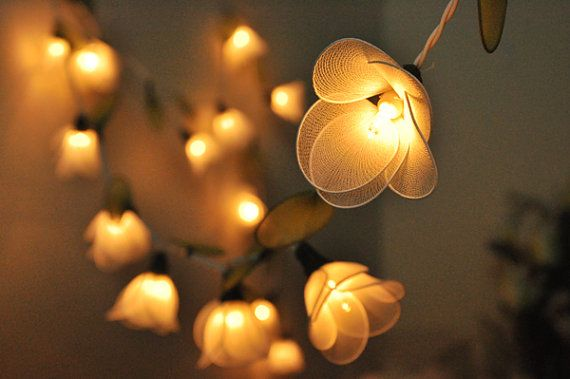 20 white flower string lights for party wedding and decorations 20 white flower string lights for party wedding and decorations mightylinksfo Image collections