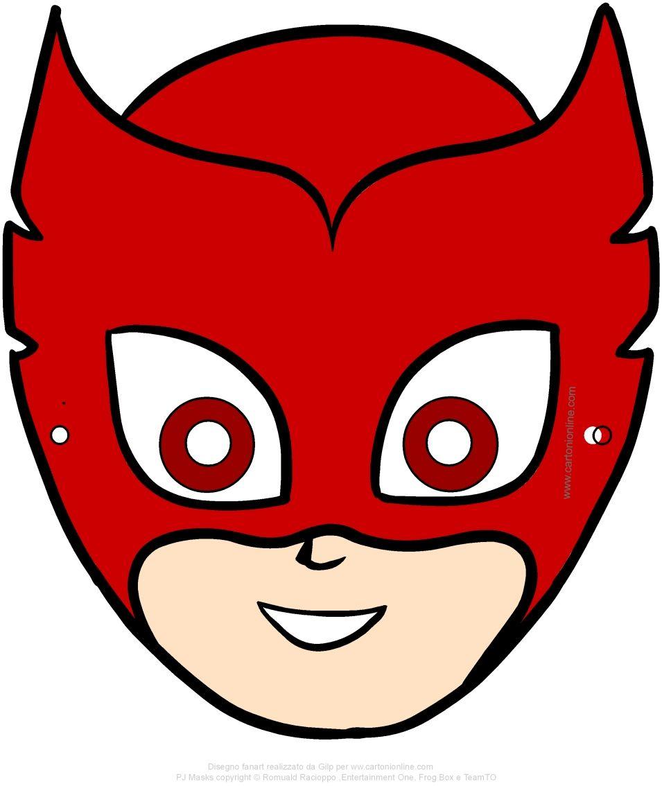 Maschera Di Gufetta Pj Masks I Super Pigiamini Da Ritagliare