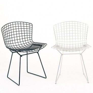 Bertoia Unupholstered Side Chair Knoll Bertoia Chairs Interieur Polyvore Patio