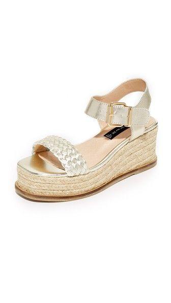 4e8fcb2addb Steven Sabble Flatform Sandals. Steven Sabble Flatform Sandals Gold Leather