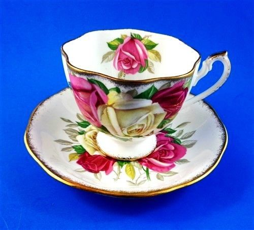 Lady-Sylvia-Big-Roses-Queen-Anne-Tea-Cup-and-Saucer-Set