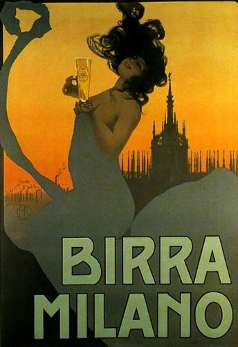 Birra Milano Vintage Poster Reproduction
