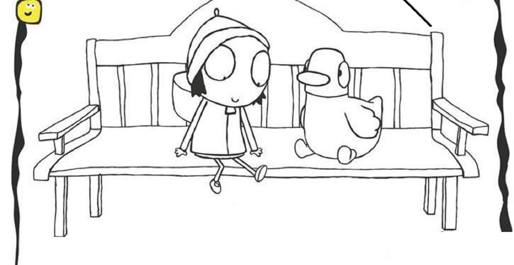 Sarah And Duck Coloring Pages Coloring Pages Sarah Duck Duck