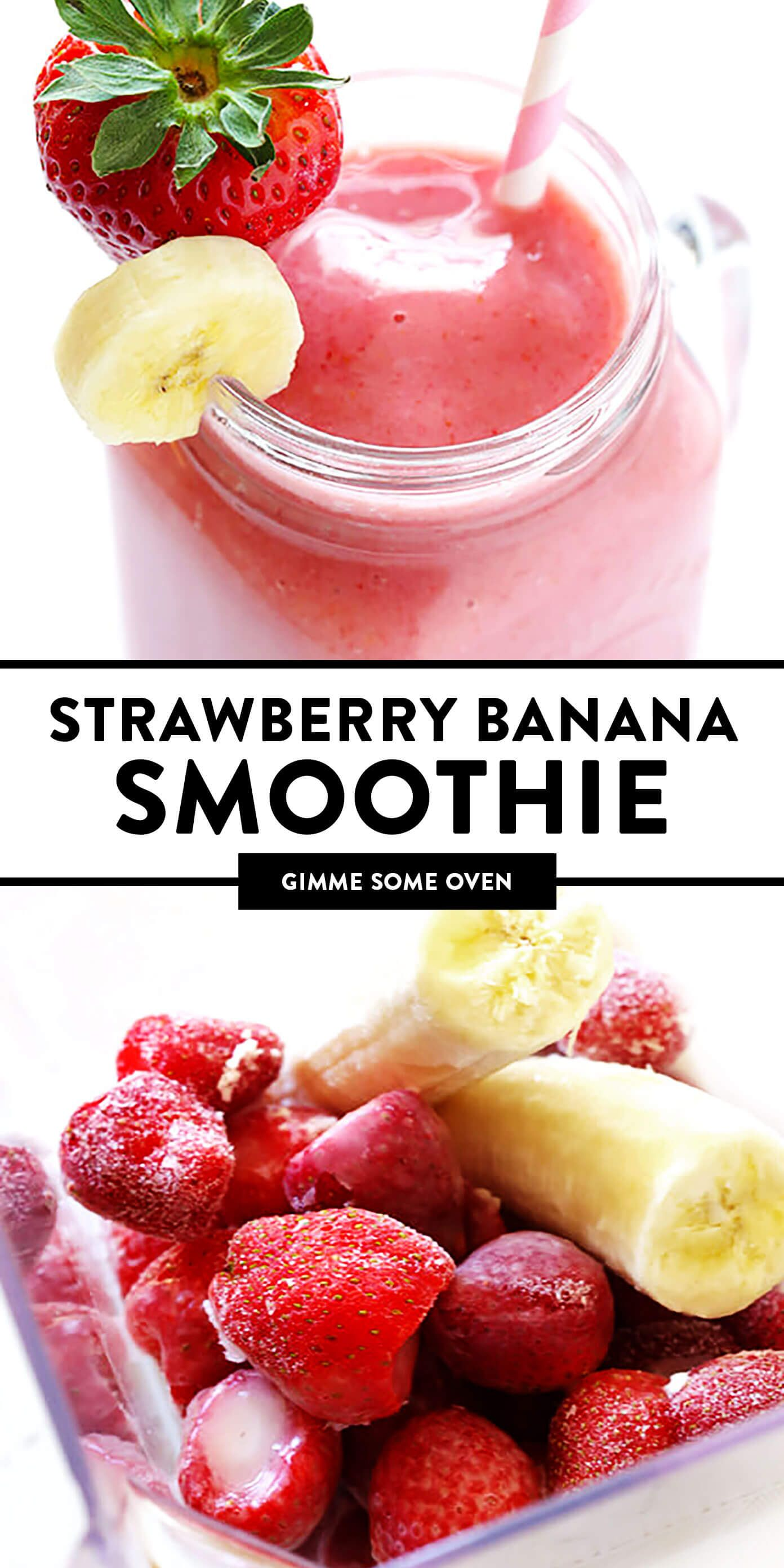 Strawberry Banana Smoothie Recipe | Gimme Some Oven